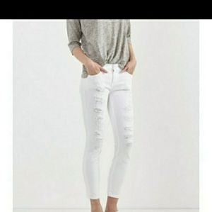 Current and Elliott The Stiletto white jeans